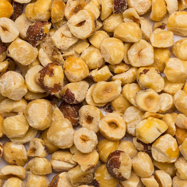 Hazelnut granella 8-12 mm lightly toastd org 25kg