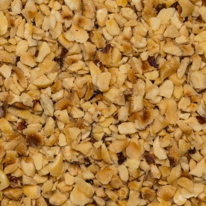 Hazelnut granella 2-4 mm toasted org. 25 kg