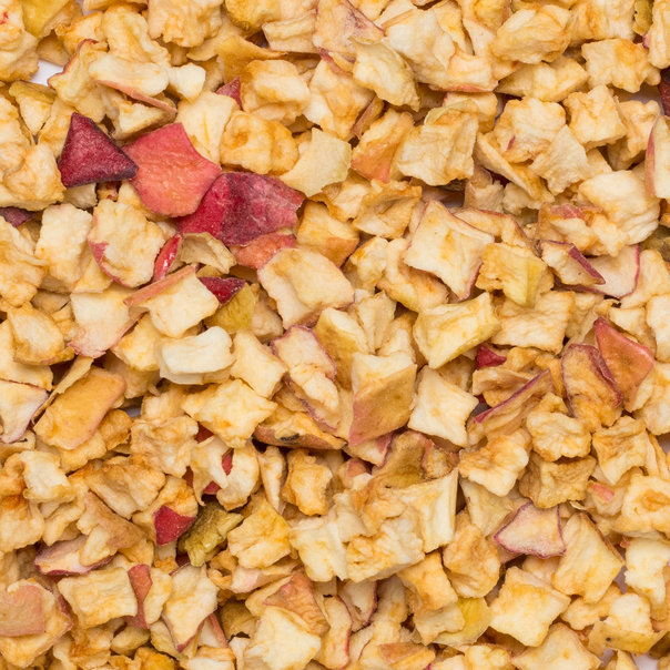 Apple pieces A 10x10 mm org. 20 kg