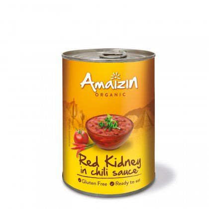 Amaizin Red kidney in chili org. 6x400g