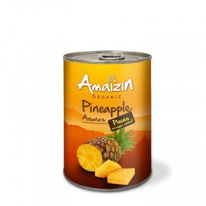 Amaizin Pineapple pieces org. 12x400g