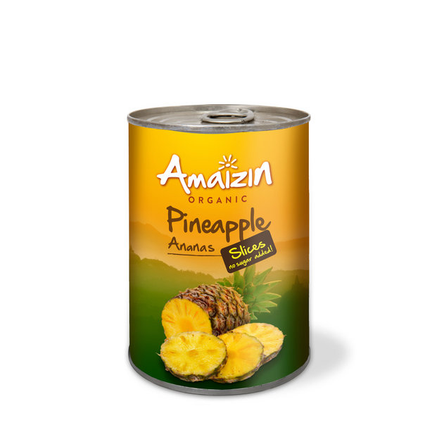 Amaizin Pineapple slices org. 12x400g