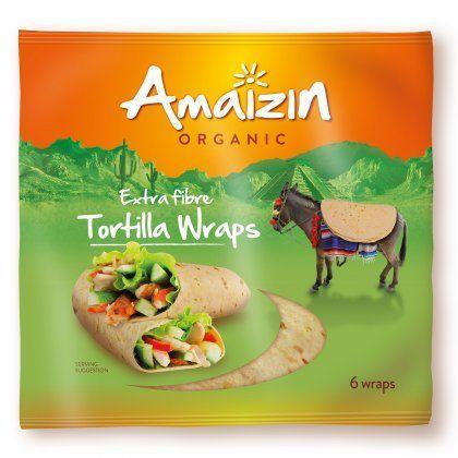 Amaizin Tortilla wraps Extra Fibre org. 16x240g