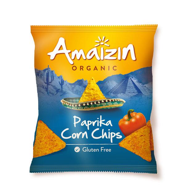 Amaizin Paprika corn chips org. 16x75g