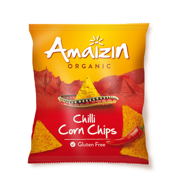 Amaizin Chili corn chips org. 16x75gr